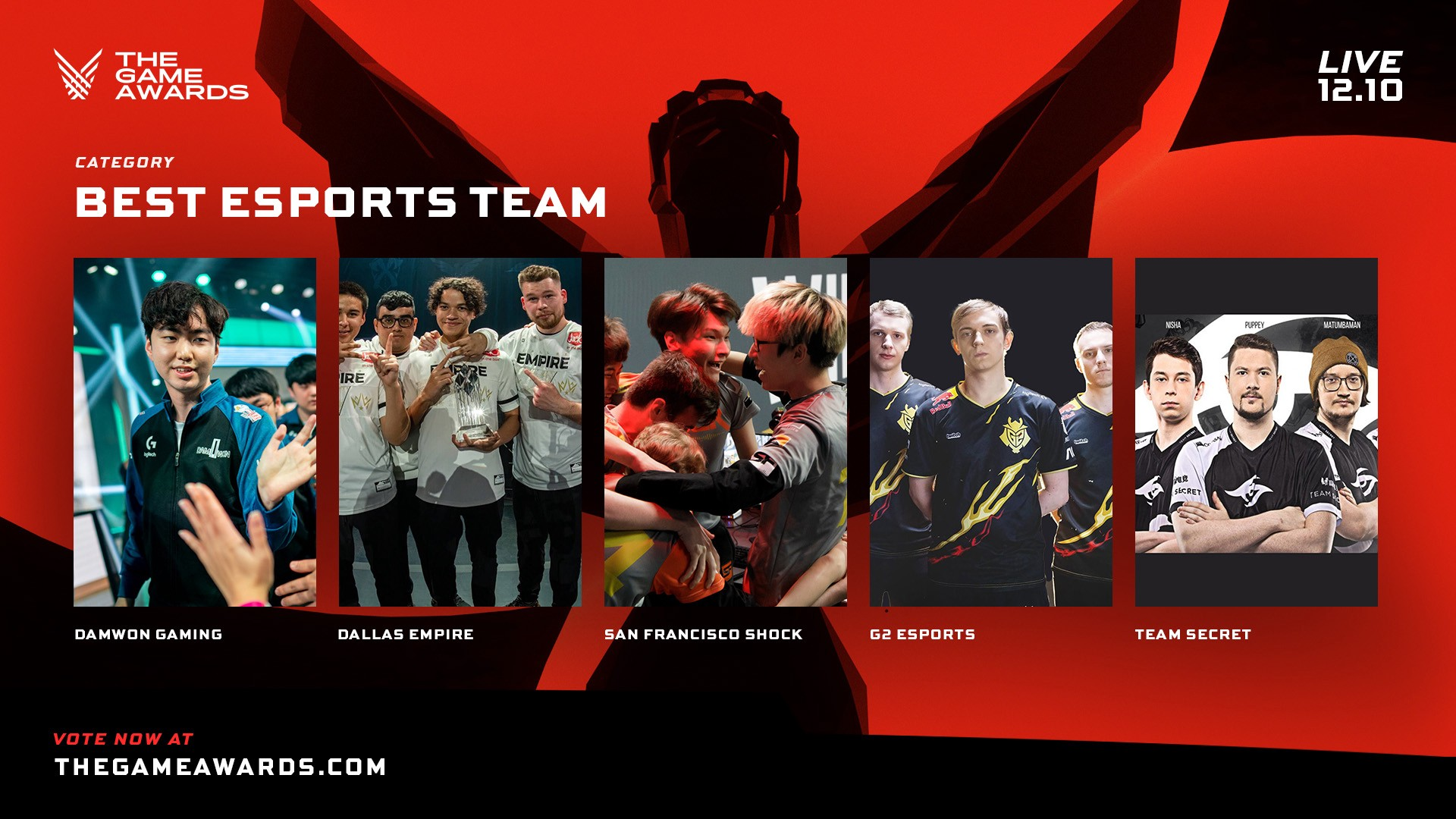 Best esports teams at The Game Awards