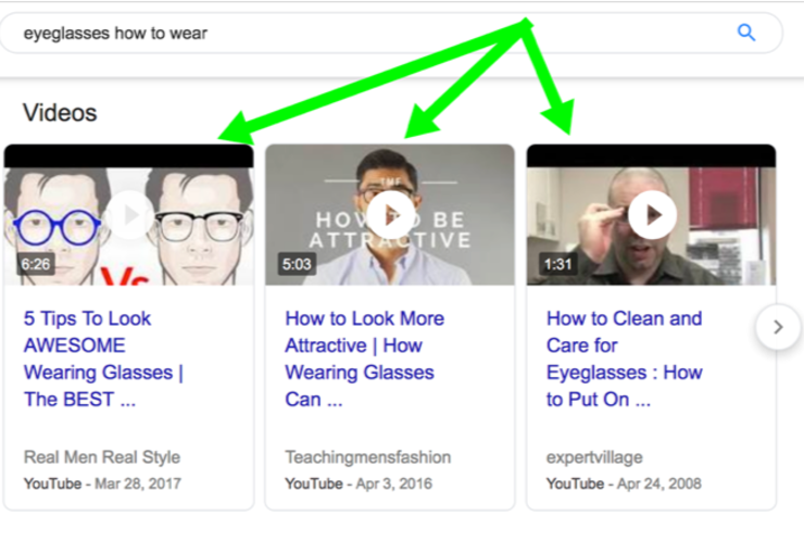How to get your youtube videos appear in google e2 80 99s video carousel