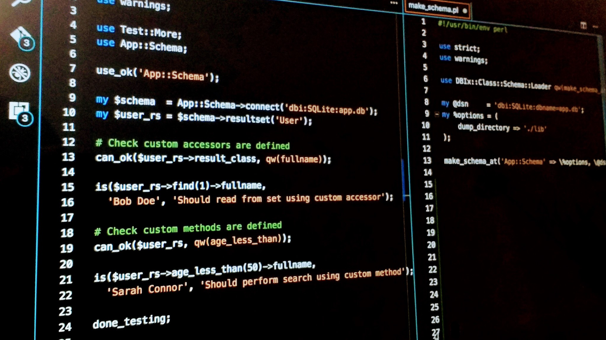 perl binary file test options