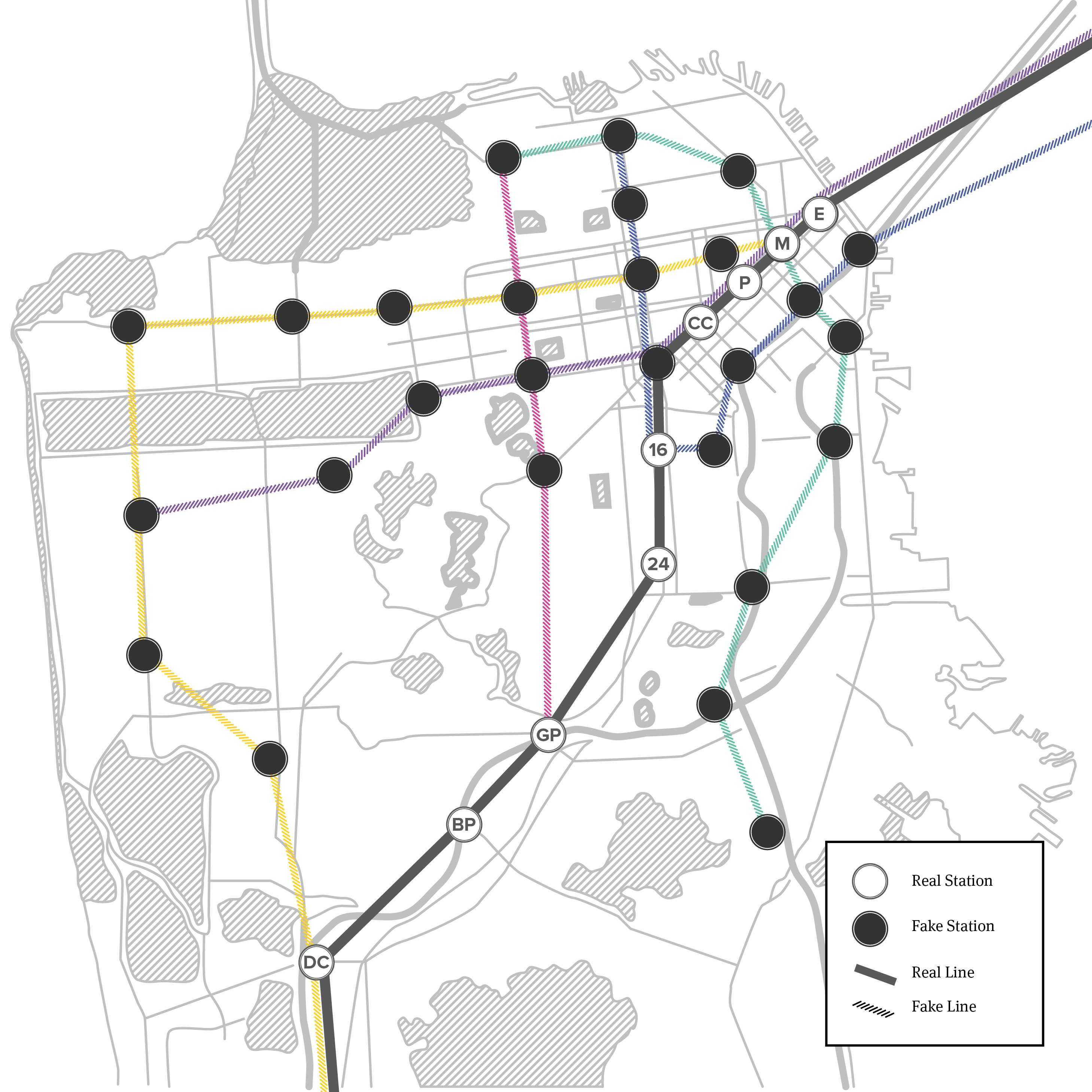 Sf Subway Map Dream.The Bart Map Of Our Dreams The Bold Italic San Francisco