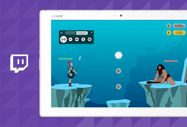 Screen Recorder, the first mobile broadcasting app for