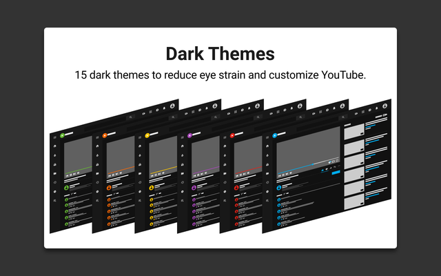 Get dark themes for YouTube with Enhancer for YouTube™ for Firefox