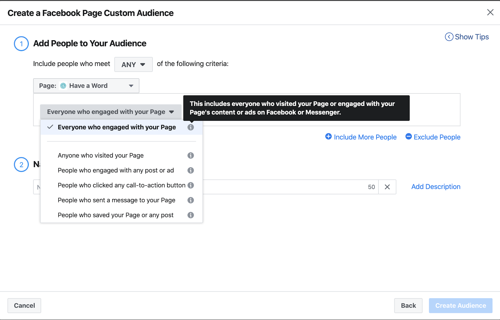 Facebook ads custom audience creation