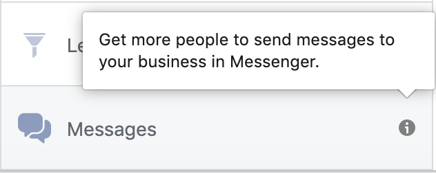 Facebook advertising for conversational commerce 1