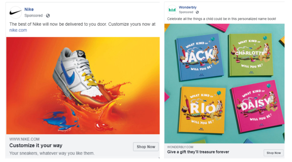 colour usage in Facebook ads
