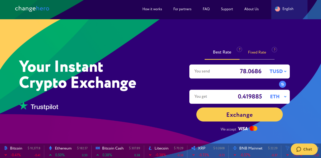 0*nUHT8HIt5cwF0F5a - How to exchange cryptocurrency on ChangeHero with BRD wallet?