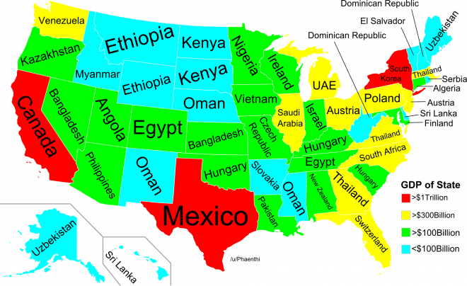 What if U.S. states were separate countries? This map is wild. If Us States Map on map russia states, map if japan, map of theunited states, map india states,