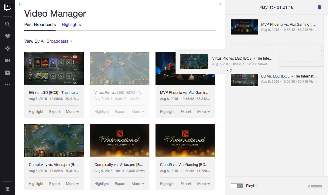 Coming Soon: Create a VOD Playlist - Twitch Blog