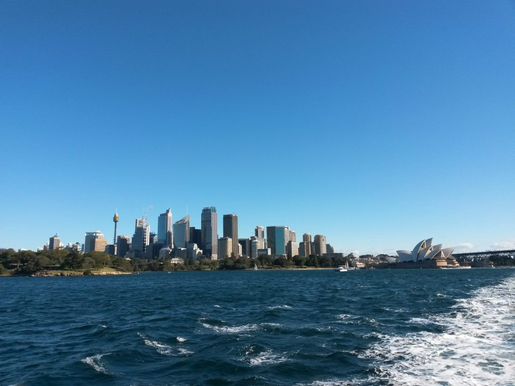 On the ferry from Sydney to Manly