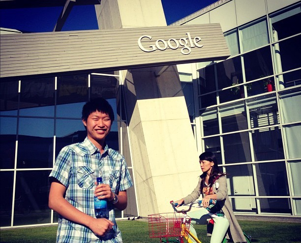 Awkward tourist at Google MV
