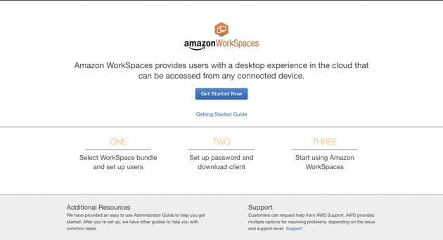 Amazon Workspaces Getting Started