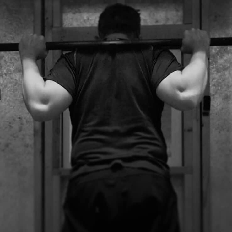 Lifting in my cold tiny gym
