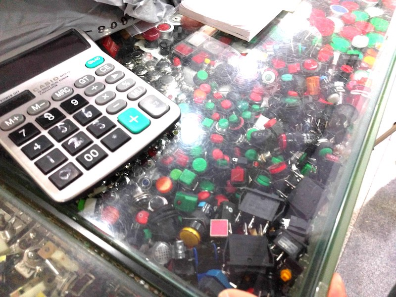 Looking for buttons? Here's a whole factory's worth. These are just a few hundred samples to test and tinker with, of course. Once you found the one you like, the negotiations can begin. Image: Peter Bihr (CC by-nc-sa)