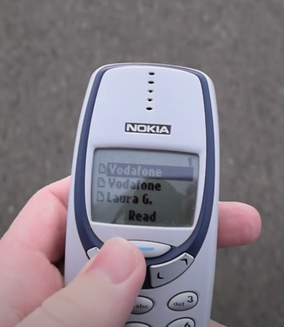 Interface of the Nokia's SMS application