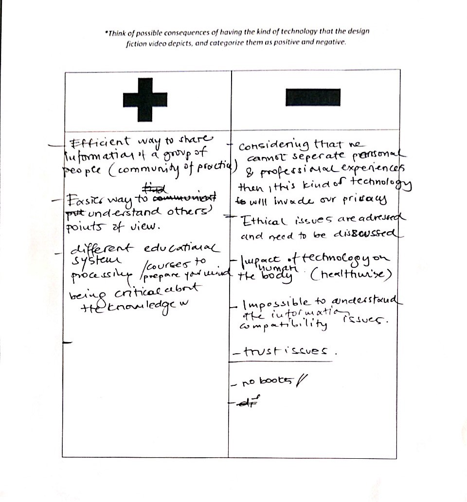 A digital scan of a sheet of A4 paper with two columns of list on