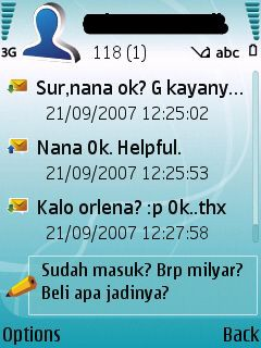 First chat function of Nokia smartphone