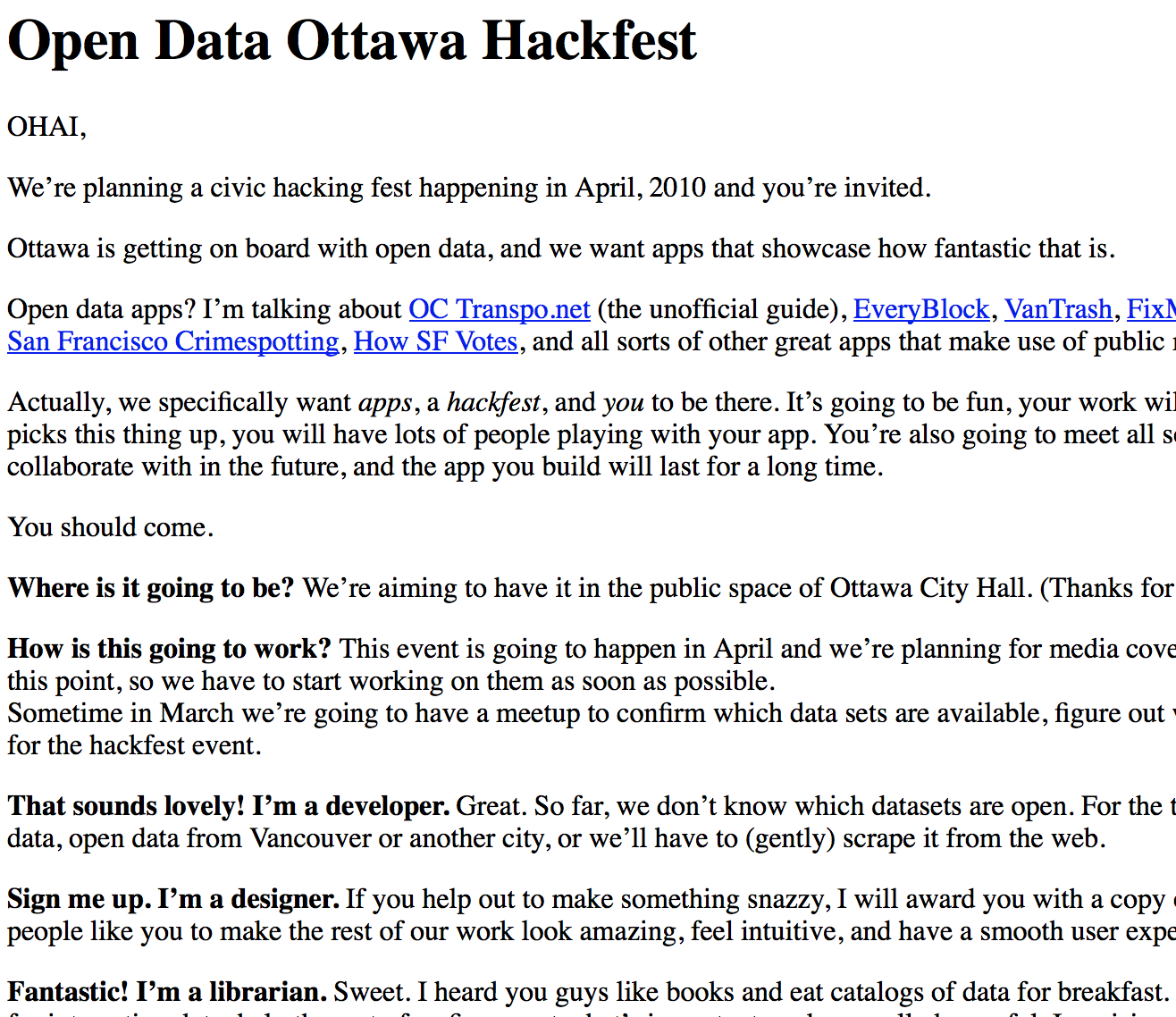 Happy Hackfests - Edward Ocampo-Gooding - Medium