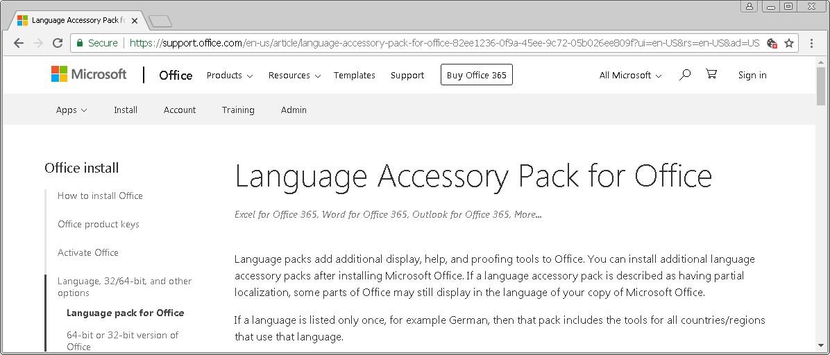 Multilingual Office — Understanding Office 2019/2016