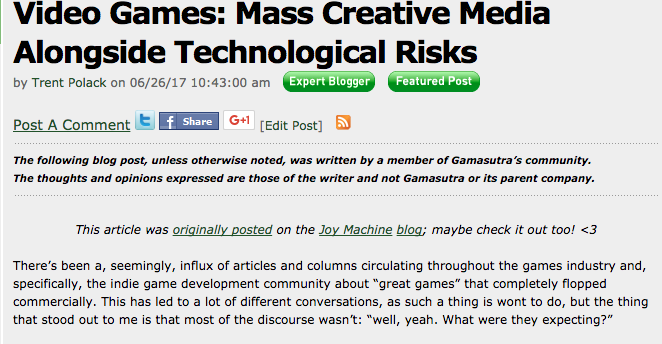 A Dedicated Publication for Game Developers - Joy Machine