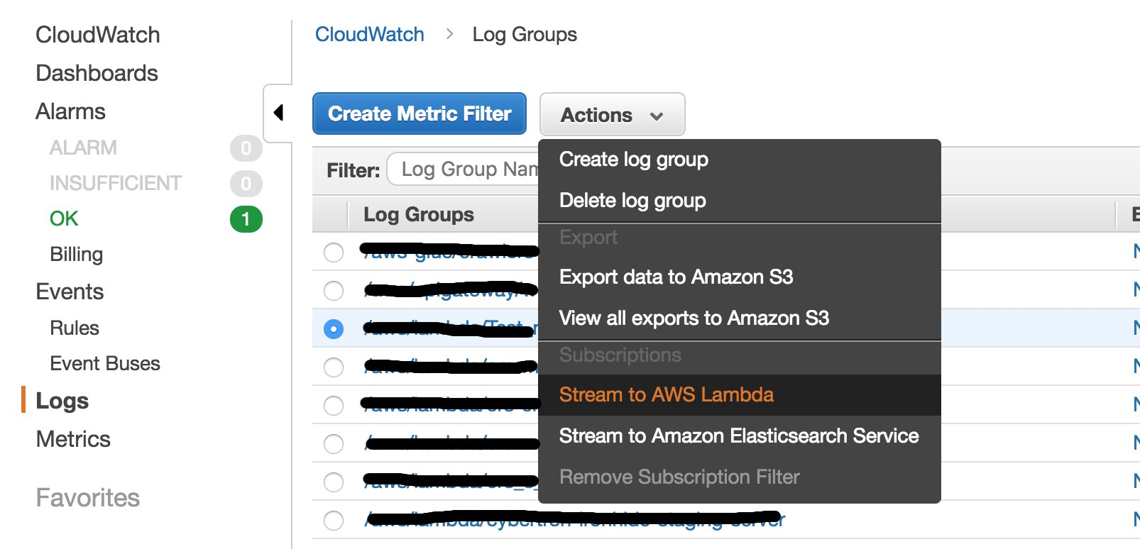 Streaming AWS CloudWatch Logs to your own ELK logging solution