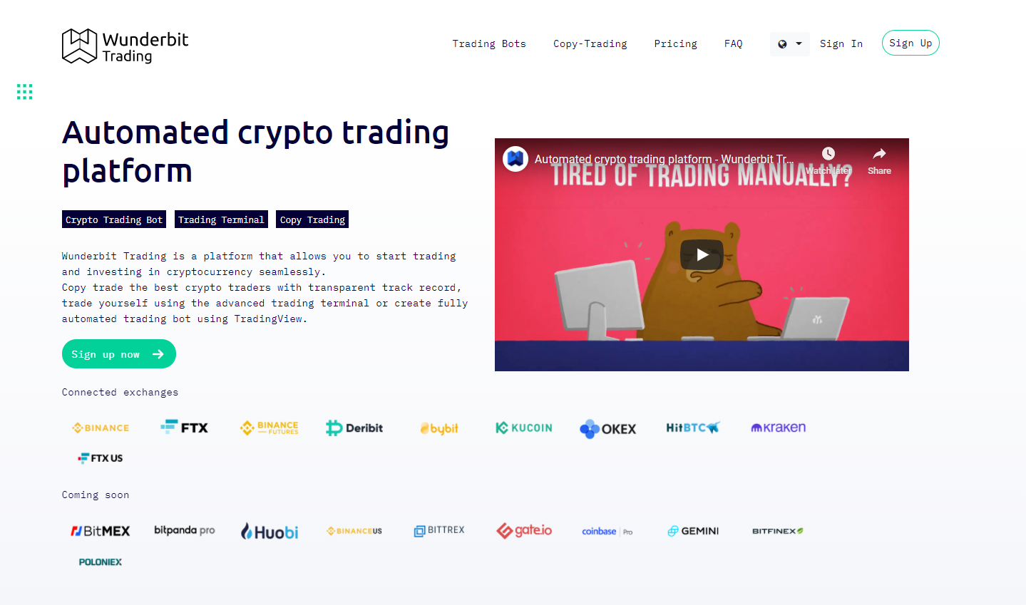 Wunderbit is another advanced cryptocurrency focused social copy trading platform.