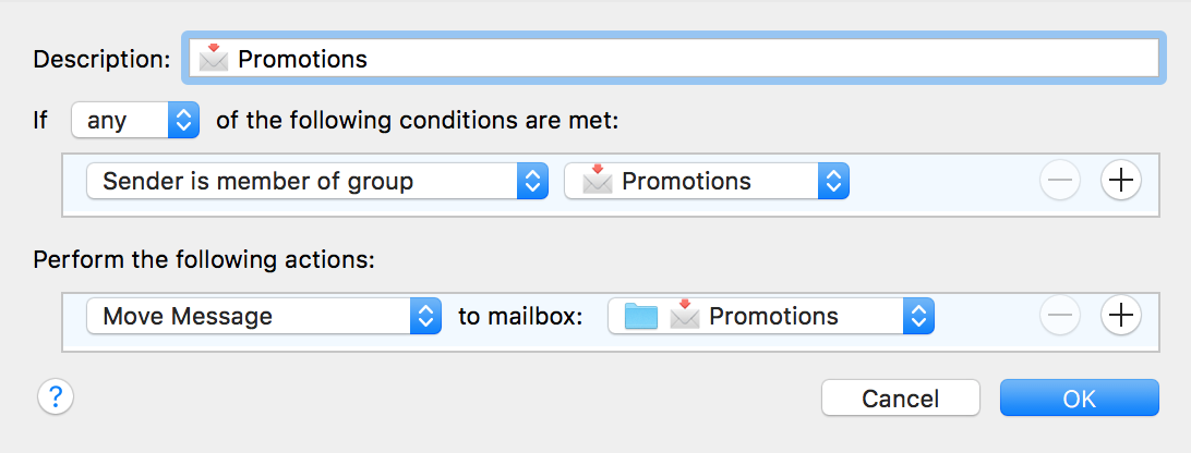 Example Rule that will move Categorised email out of your Inbox