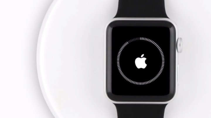 An Apple Watch during pairing process