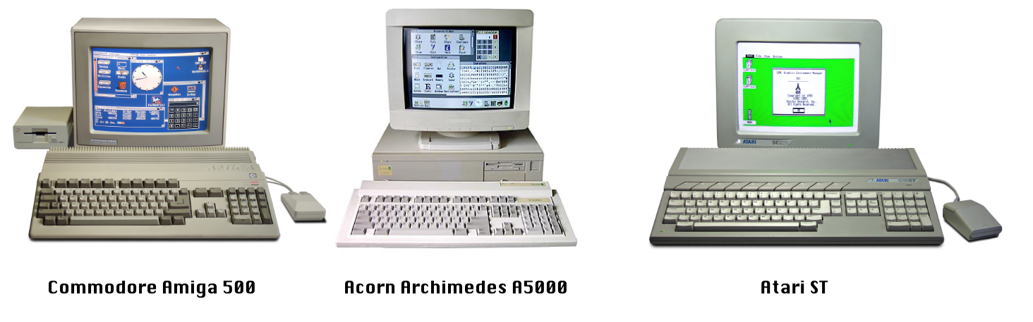 Popular home computers of the 1980s and early 90s