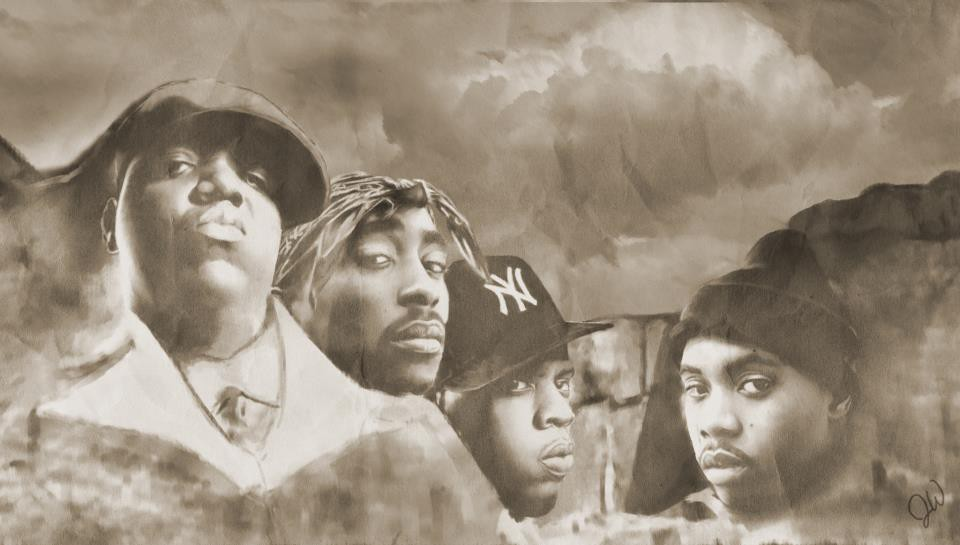 Image result for 2pac biggie jay z nas mount rushmore