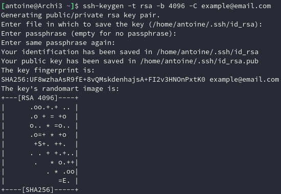 Keypair Generation with OpenSSH