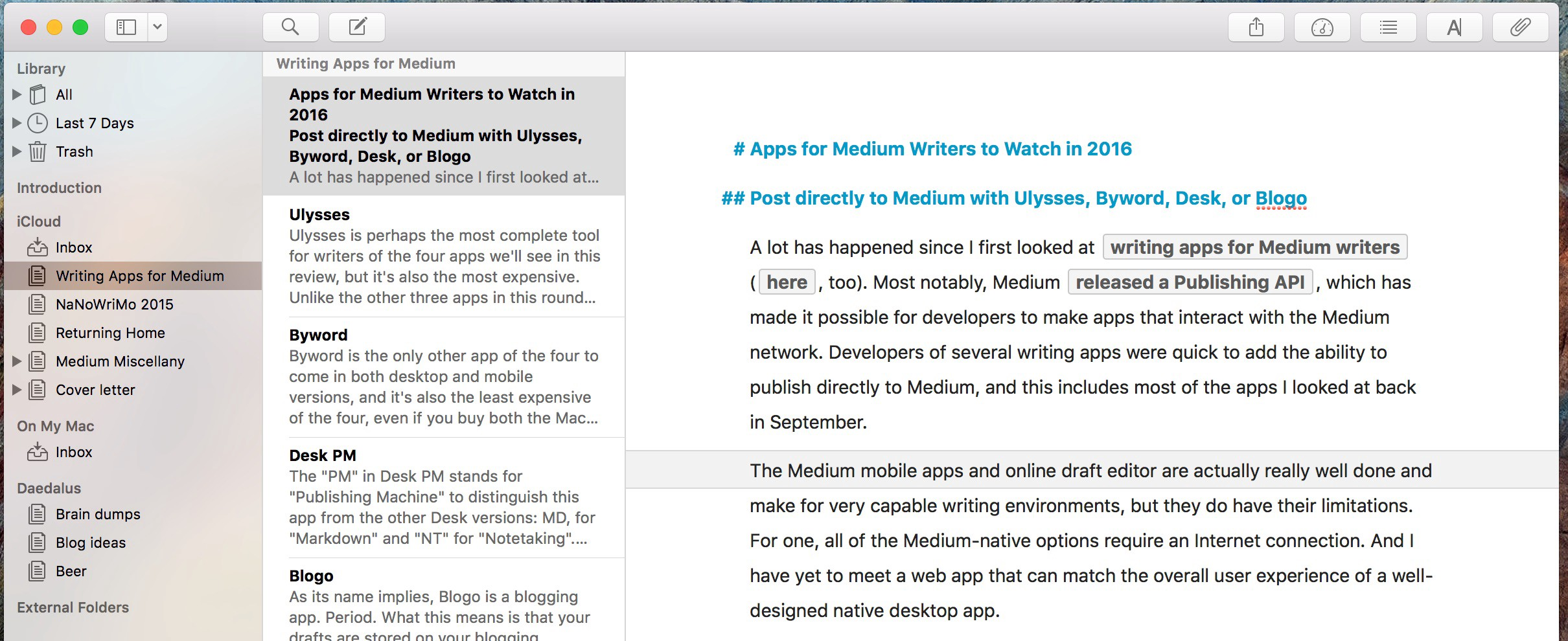 Apps for Medium Writers to Watch in 2016 - The Writing