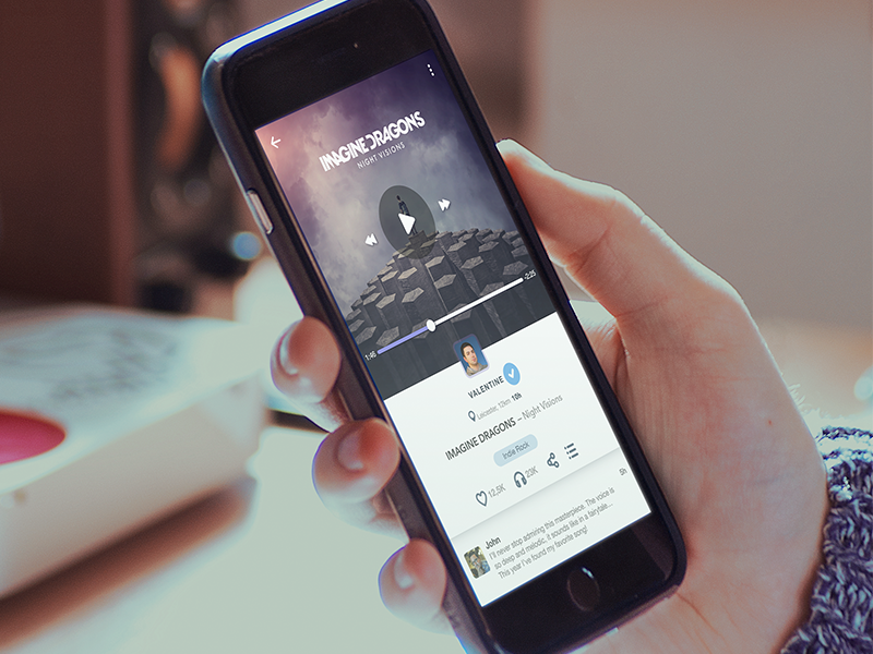 Feel the Beat. UI Design for Music Streaming Services.