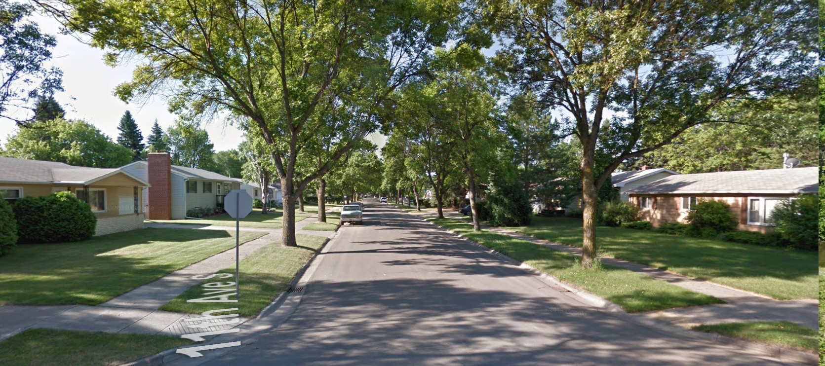 A classic American suburb in Grand Forks.