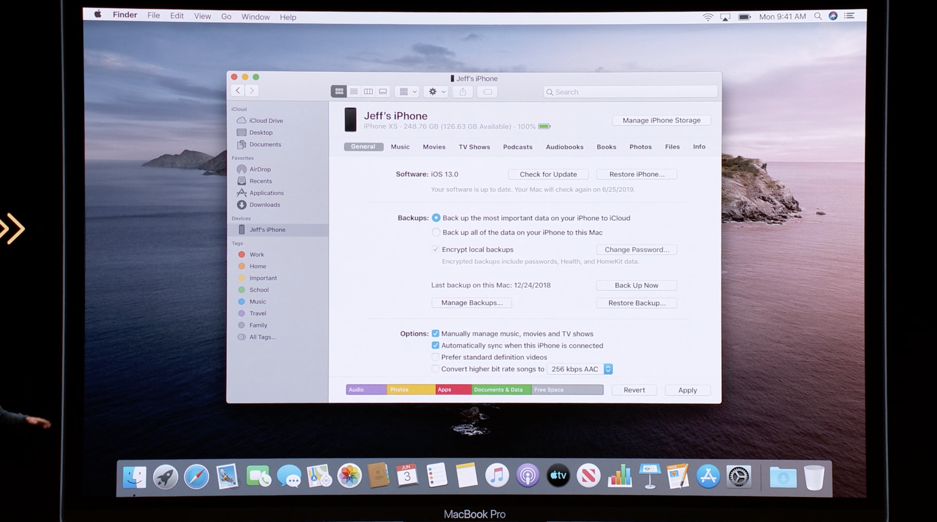 Managing your iPhone on the Mac in a post iTunes world