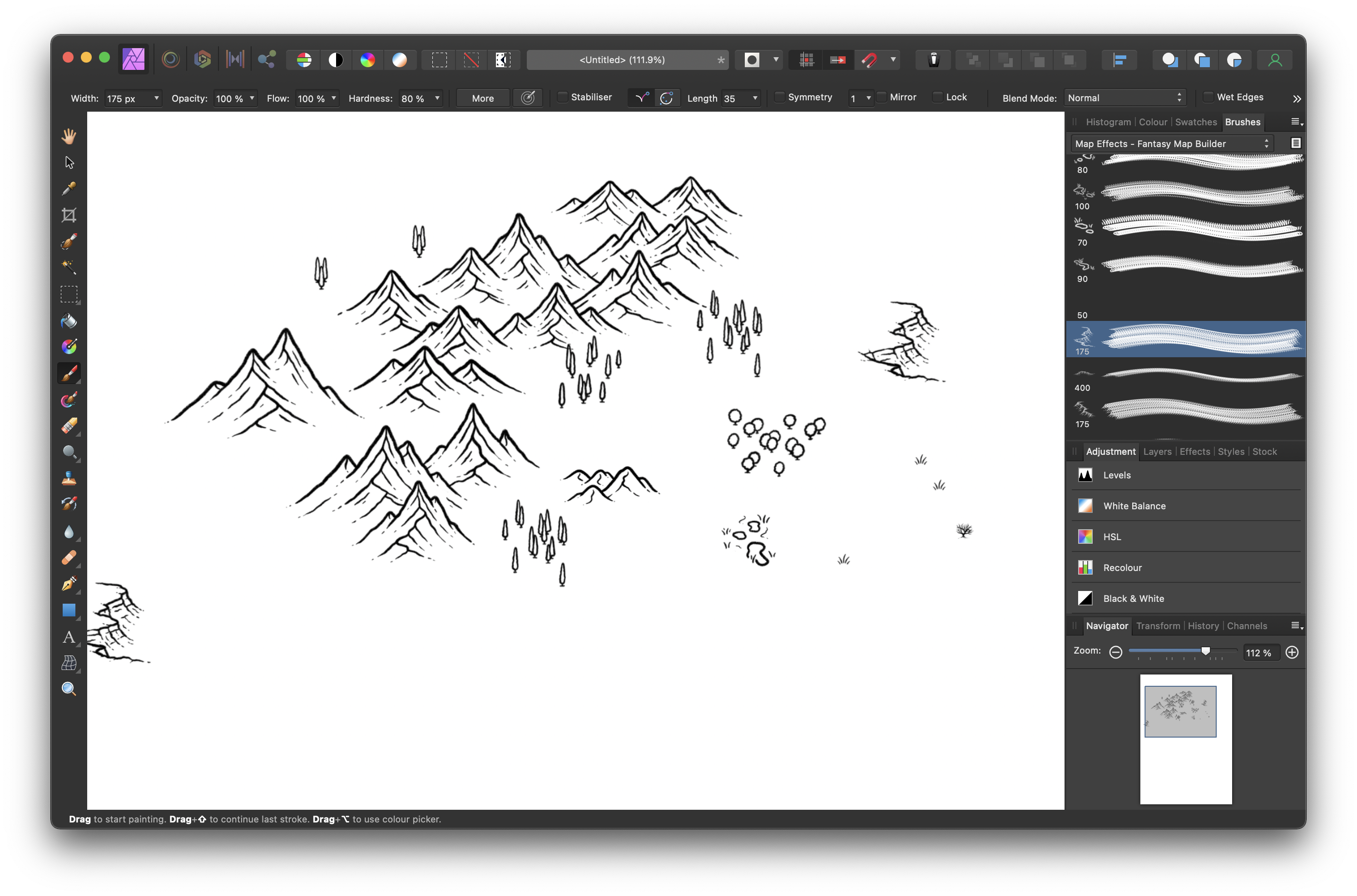 Brush stamps in Affinity Photo