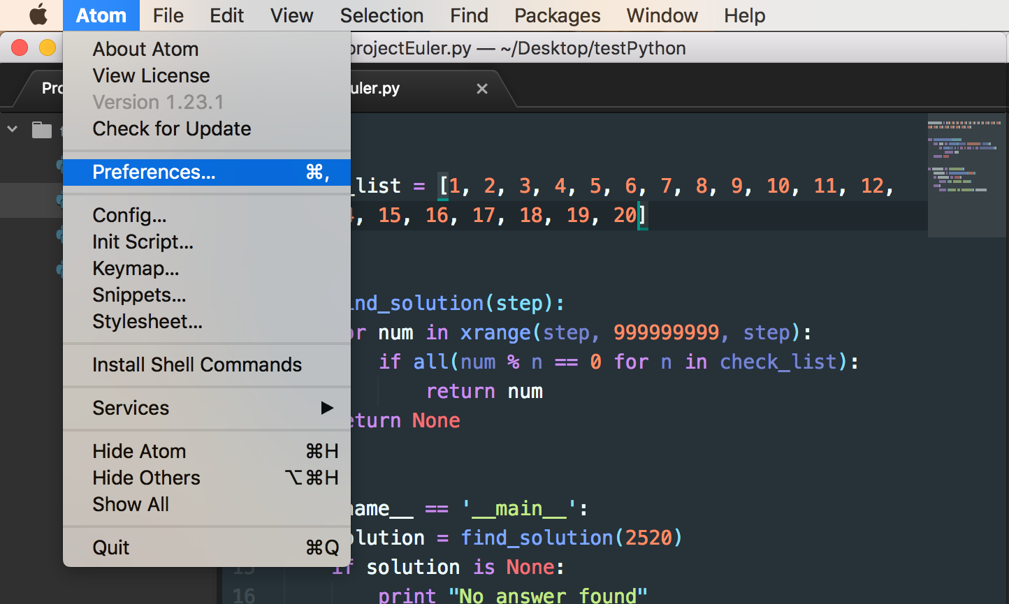 My Anaconda don't want none unless you do Atom-Python